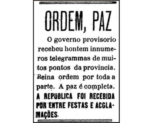 Clique aqui para ver a edição do jornal A Província de São Paulo de 17/11/1889