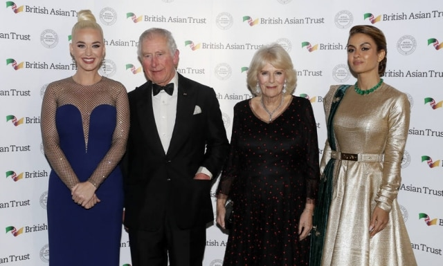Katy Perry, along with prince Charles and his wife Camilla, and an entrepreneur of indian Natasha Poonawalla