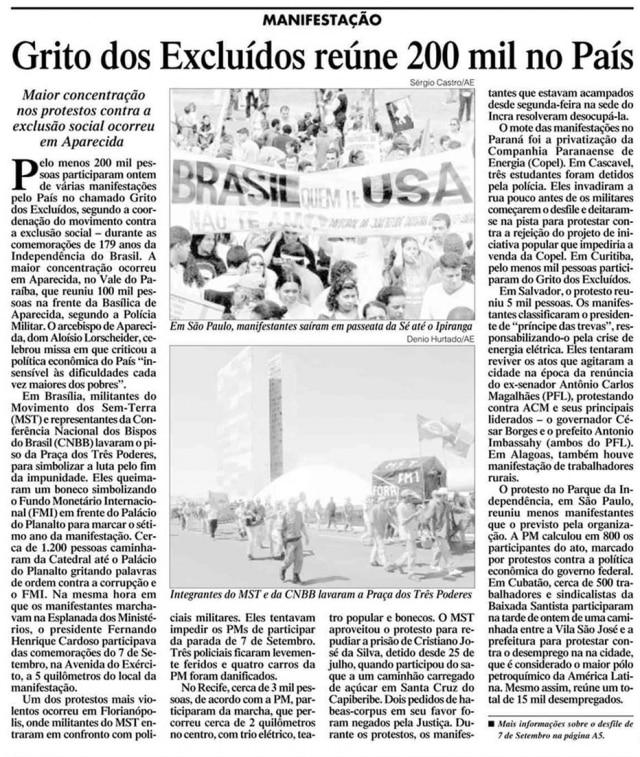 > Estadão - 08/9/2001