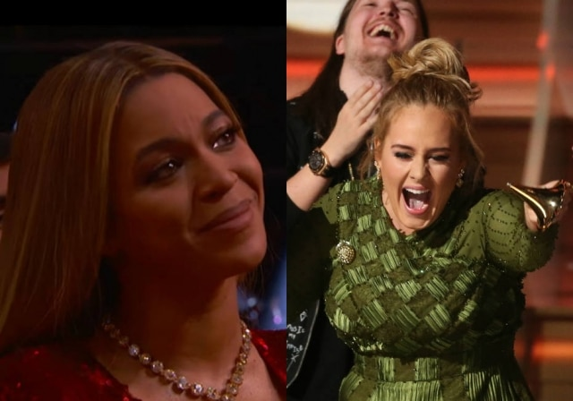 Beyoncé e Adele concorriam em várias categorias do Grammy
