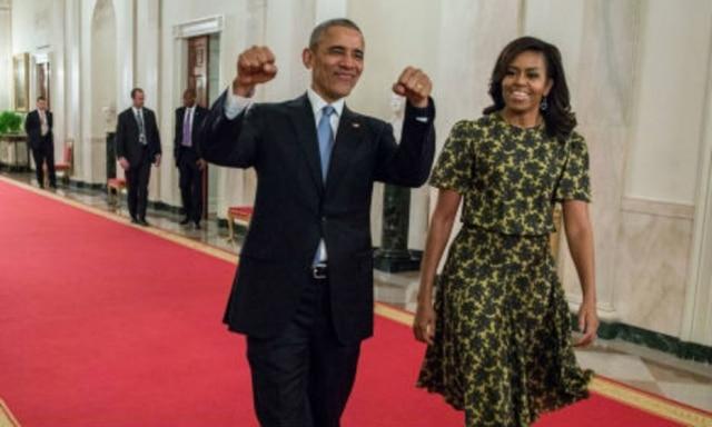 O presidente dos Estados Unidos Barack Obama e a primeira-dama, Michelle Obama