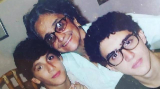 Clara Velloso com os filhos de Caetano, Zeca e Tom
