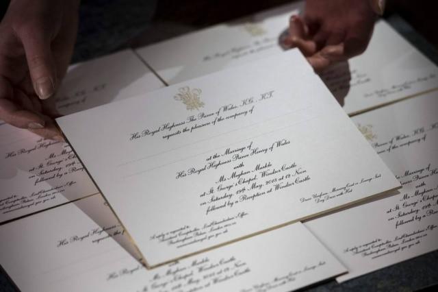 Convite do casamento real.