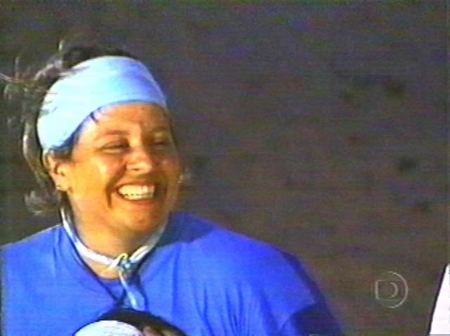 Elaine durante sua participação no programa 'No Limite'