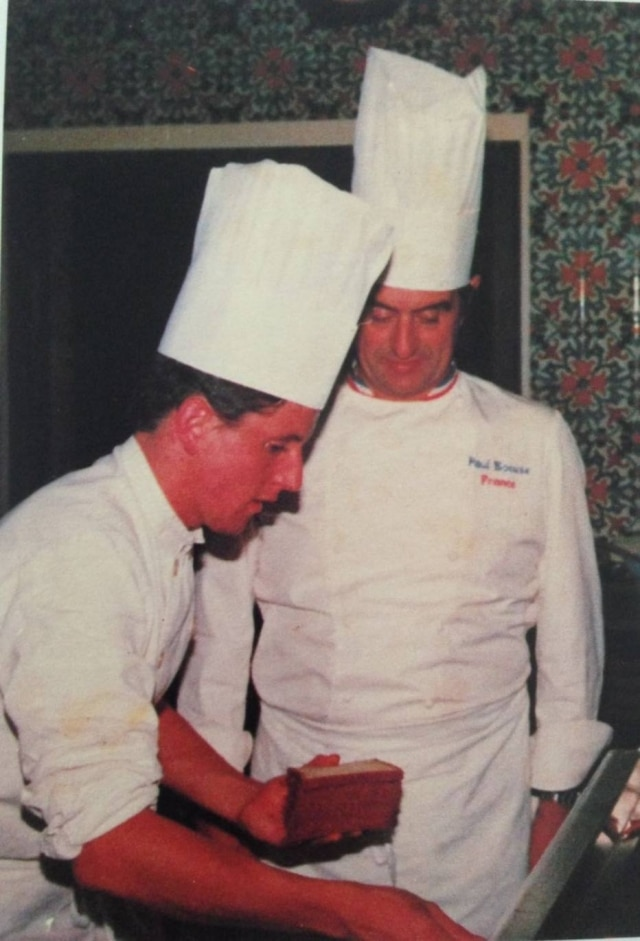 Laurent Suaudeau e Paul Bocuse.