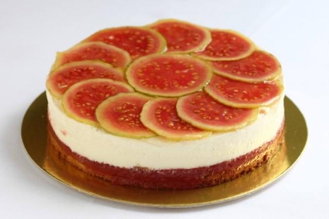Cheesecake de Romeu e Julieta - com cream cheese.