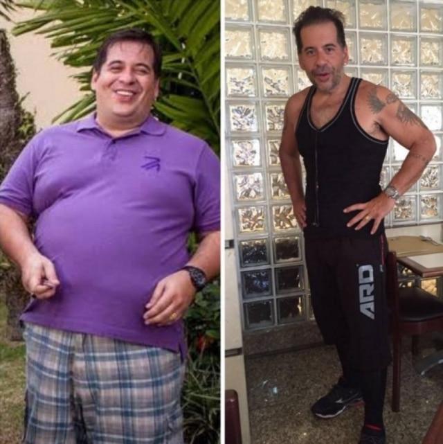 O ator mostrou no Instagram e mudança em sua forma física