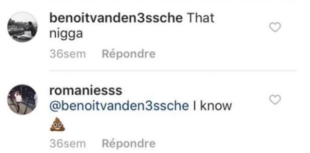 A Miss respondeu o comentário de um internauta com um emoji de fezes.
