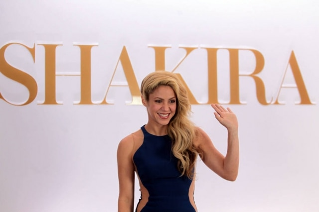 Shakira está no Brasil para lançamento de seu novo perfume