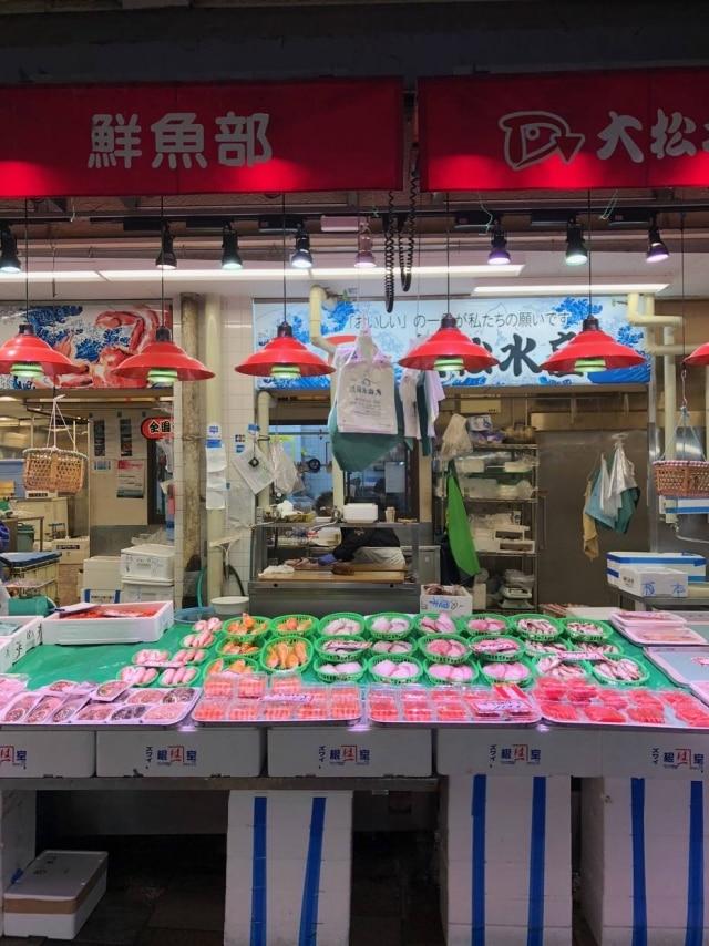 MercadoOmicho em Kanazawa, um dos melhores do Japão