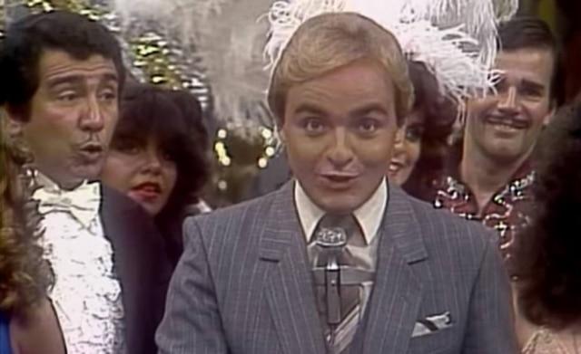 Gugu Liberato no 'Viva a Noite' em 1983.