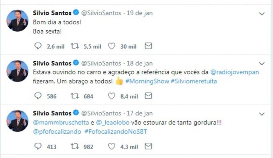 Twitter / @SilvioSantos
