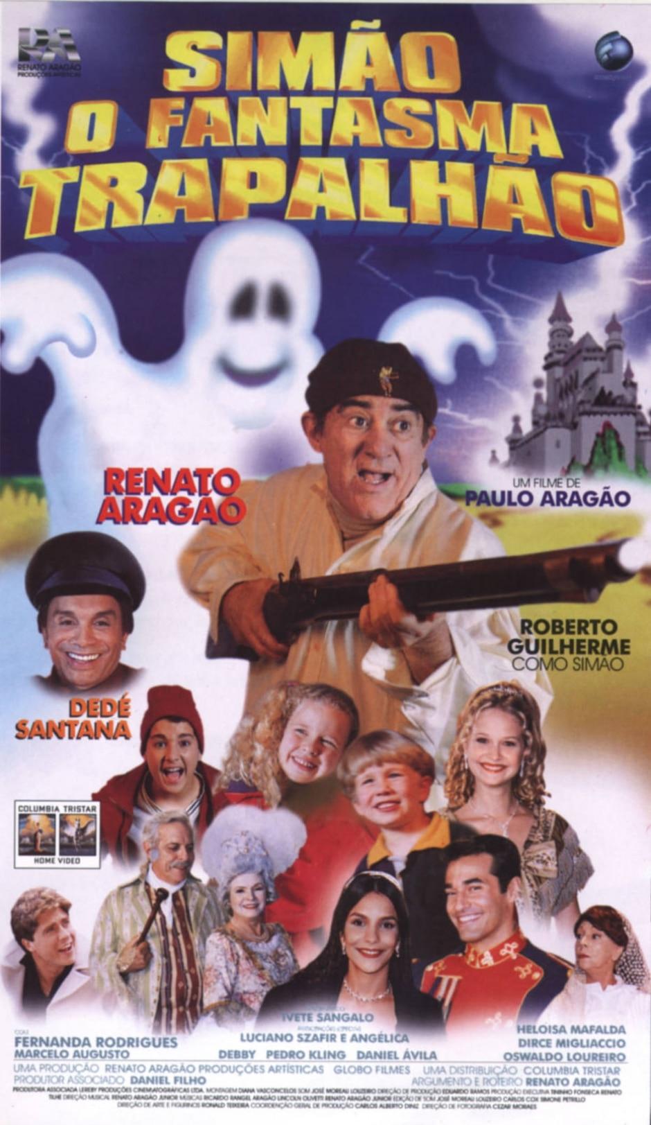 Reprodução de cartaz de 'Simão, o Fantasma Trapalhão' (1998) / Globo Filmes