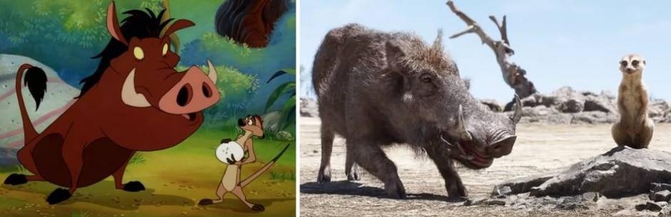 Reprodução de 'O Rei Leão' (1994) | (2019) / Disney
