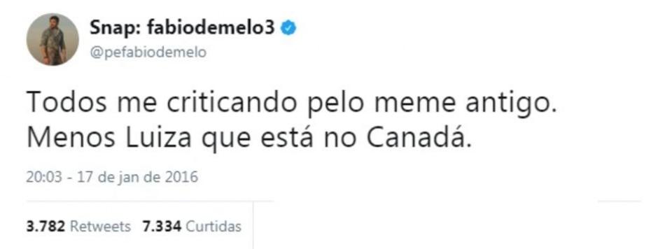 Twitter / @pefabiodemelo