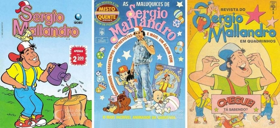 Reprodução de 'Revista do Sergio Mallandro' / Editora Globo / Editora Abril   guiadosquadrinhos.com