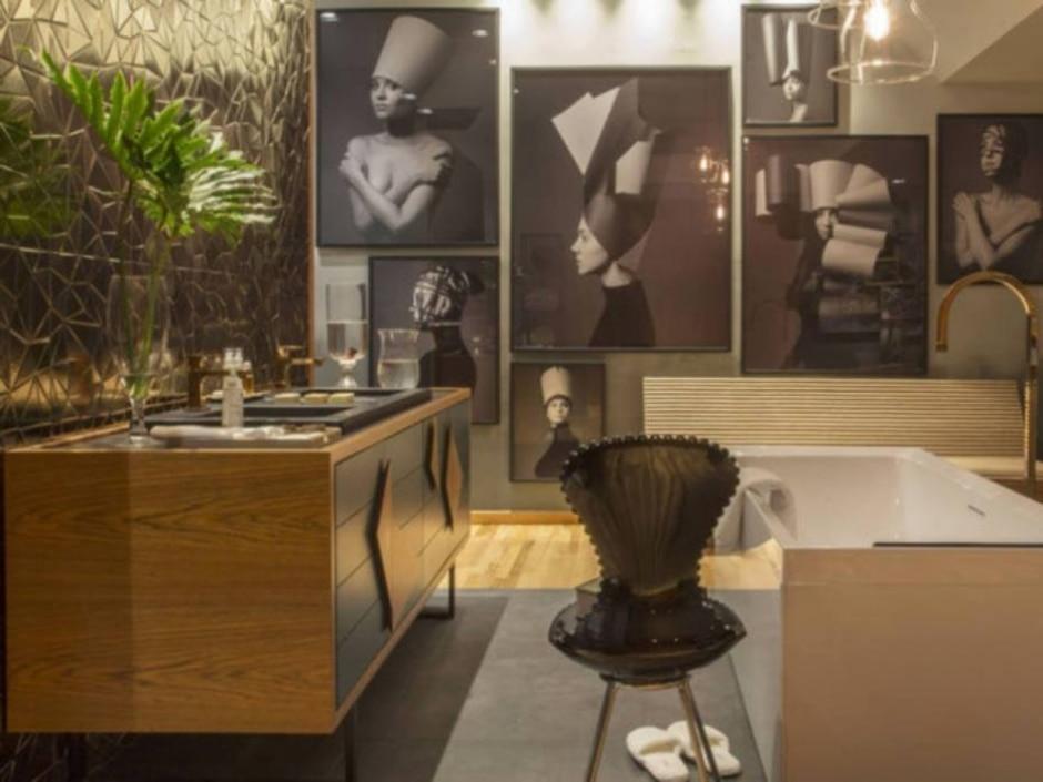 Zeca Wittner/ Banheiro assinado pelas arquitetas Paula Leme e Luciana Bicheri