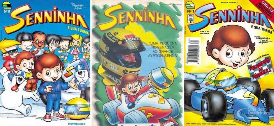 Reprodução de revista 'Senninha' | guiadosquadrinhos.com