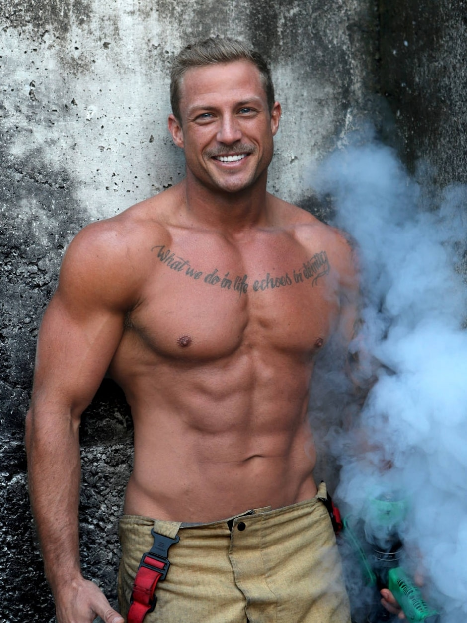 Imagem cedida por David Rogers, diretor do The Australian Firefighters Calendar