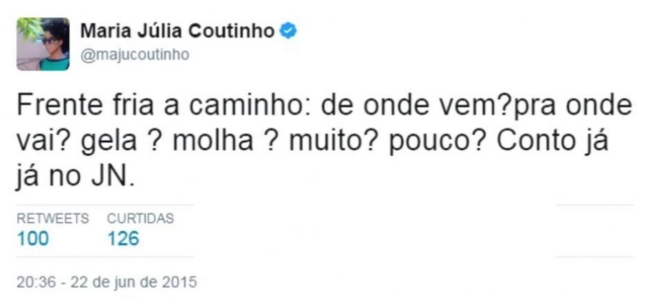 Twitter / @majucoutinho