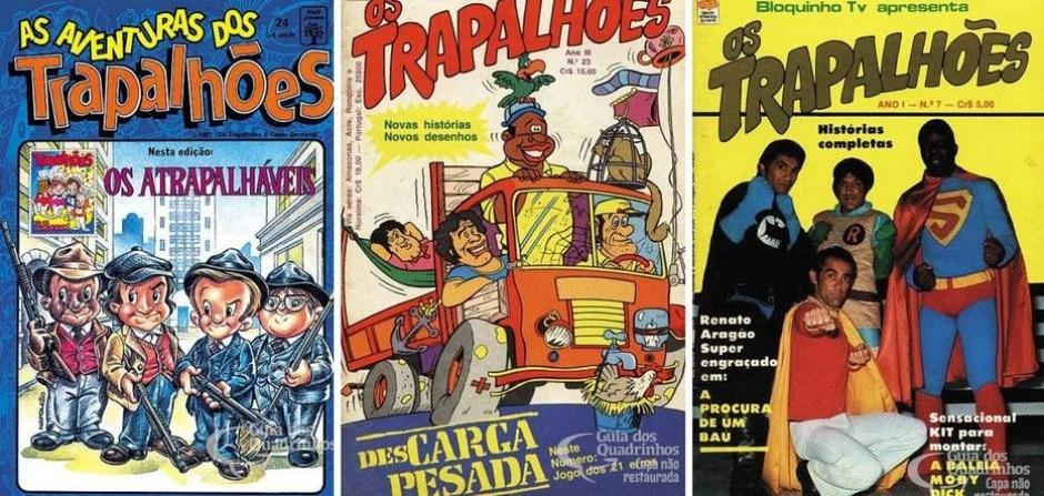 Reprodução de 'Os Trapalhões' / Editora Bloch | Twitter / @trapas1994