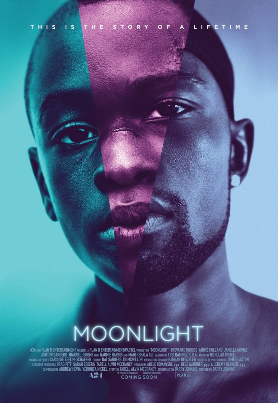 Cartaz do filme Moonlight: 'Sob a Luz do Luar' (2016)